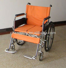 Chrome-plated Foldable Wheelchair With Hard Seat (Suitable for obese people)