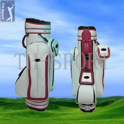 White PU golf bag shoulder strap