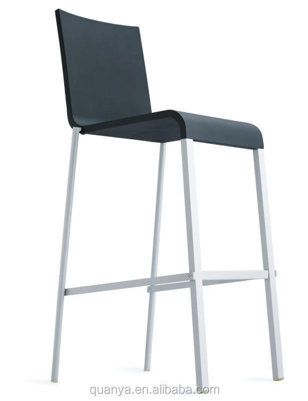 high leg and long legs plastic dining chairs with stainless steel
