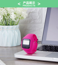 2D digital CE silicone Button sport calorie counter wrist wristband pedometer