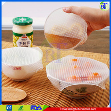 Reuseful silicone cling film wrap ,hot silicone rubber film for sale