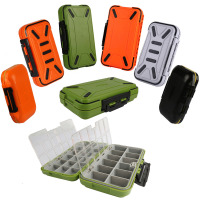 Fulljion Hard Plastic Storage Case Box Plastic Fishing Lure Hook Bait Fishing Tackle Lure Box