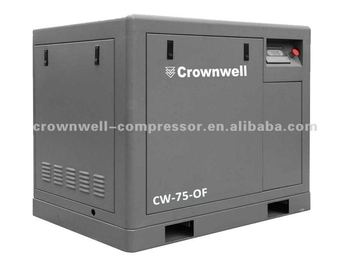 Manufacturer Crownwell Oil Free Screw Air Compressor Model CW-7.5~250-OF