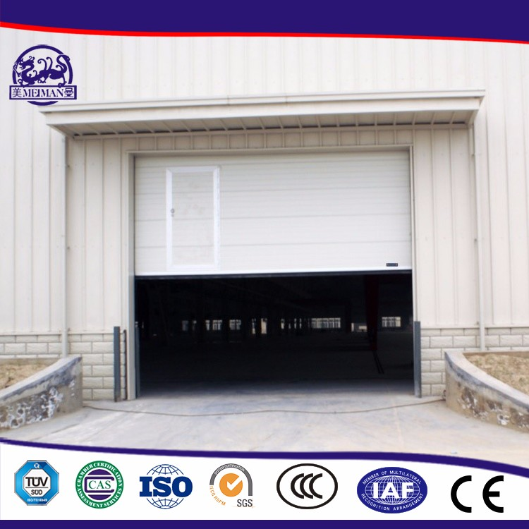 Sectional Electric Lift Overhead Doors Showing Electric Limited Position