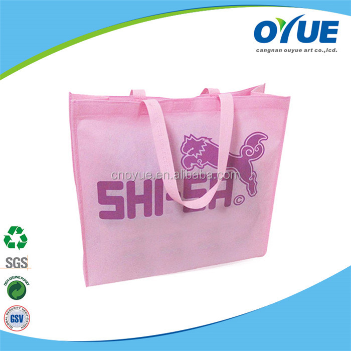 Custom promotional recycled laminated non woven bag