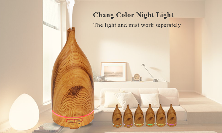 Wholesale Price Wood Grain Electric Fragrance Aromatherapy Essential Oil DIffuser With LED Lamp