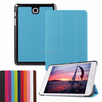 Trifold case For Samsung Tab A8.0 T350 / P350, New Generation 2017 ultra thin Tri Folding PU Leather Flip Smart cover
