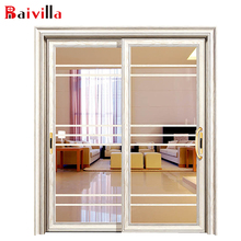 Aluminum frame tempered double glass waterproof shower doors one way glass sliding bathroom door