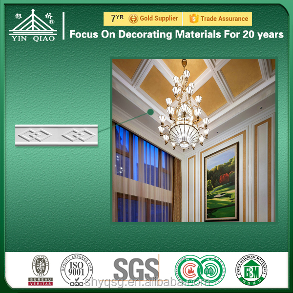 Decorative Molds for clear flower pattern gypsum cornice molding