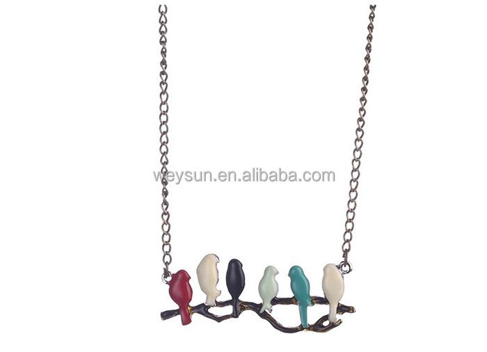 new lovely bird on branch necklace fashion pendant women necklace