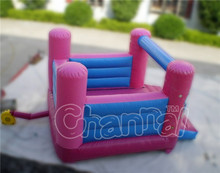 Pink inflatable bouncer castle ,girls playhouse for games