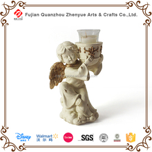 2015 walmart polyresin angel statue candle holder