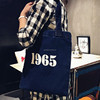 OEM Denim standard size cotton tote bag jeans shopping bag