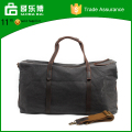 Leather and Waxed Canvas Duffel Travel bag