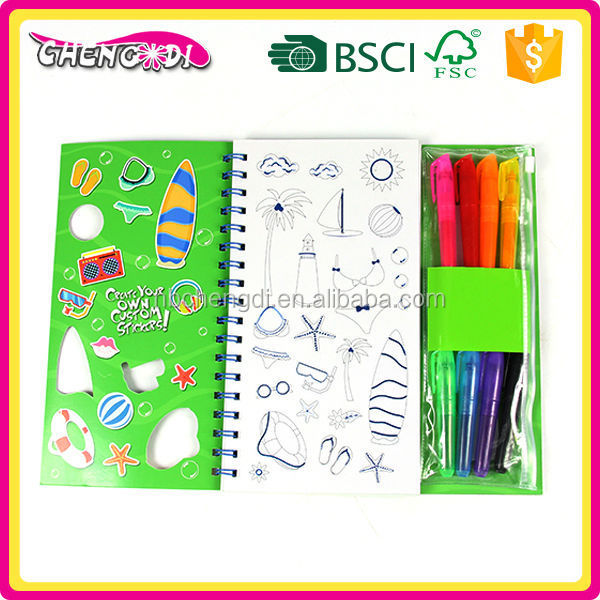 Best Selling Kids Silver Printing Wholesale Coloring Books
