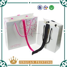 Recyclable luxury style printed gift custom paper shopping bag
