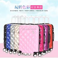 Travel Land 3 Pcs Luggage Travel Set Bag ABS Trolley Suitcase w/TSA Lock Black