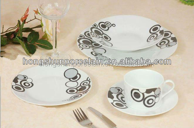 Simple and elegant fine white ceramic modern english china dinnerware for wholesales