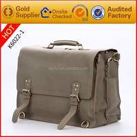 Guangzhou Wholesale 2015 Trend Real Leather Laptop Bags Briefcase