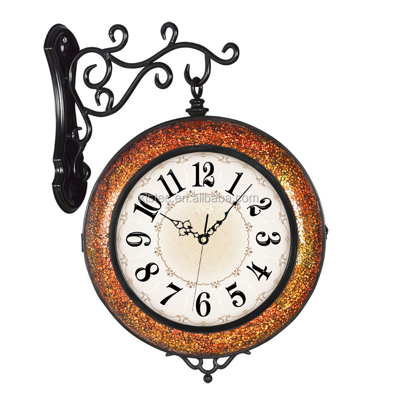 cartoon large wall clock digital calendar day clock