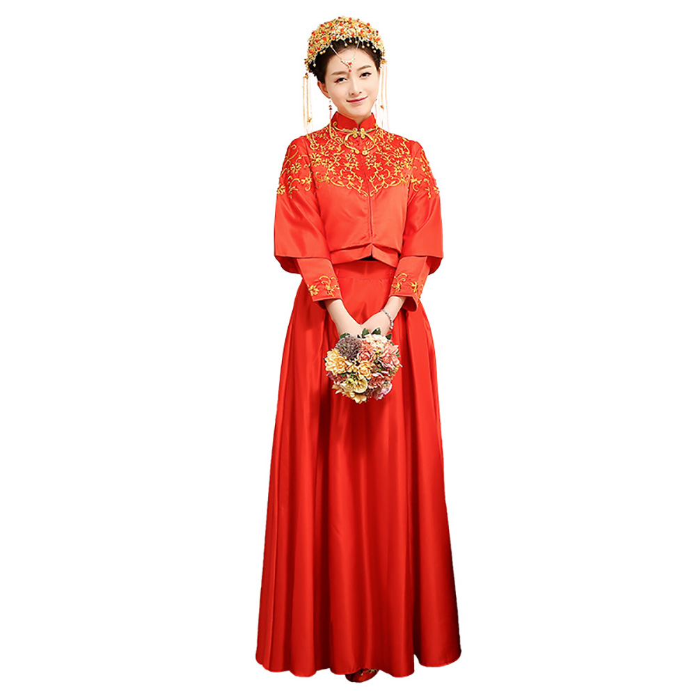 Fashion Red Traditional Formal Evening Dress Evening Dresses Lace ...