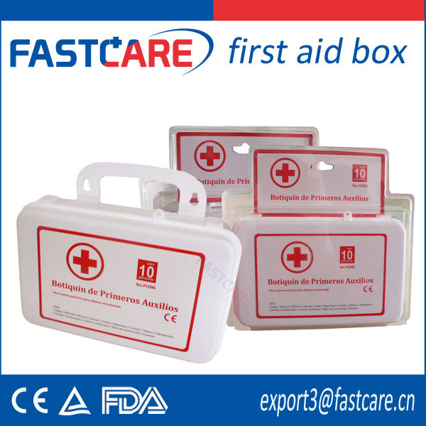 CE approved pvc first aid box