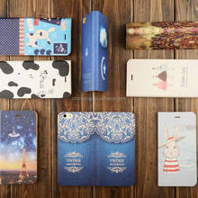 Color Painting PU Leather Cover Case for iPhone 6 6S 7, for iPhone Cover Case