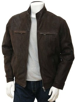 Men's Brown Nubuck Jacket