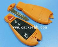 New ! Orange color Chrysler 3+1 button remote key blank , keyless cover , case shell