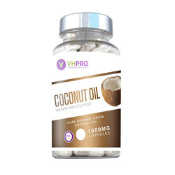 Volcanat Health Pro Coconut Oil 1000mg In Clear Round Bottles Best Slim Diet Pills