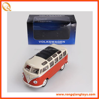 HOT SALE 1:24 scale diecast model small bus toy kids red bus toy for sale PB067125052A