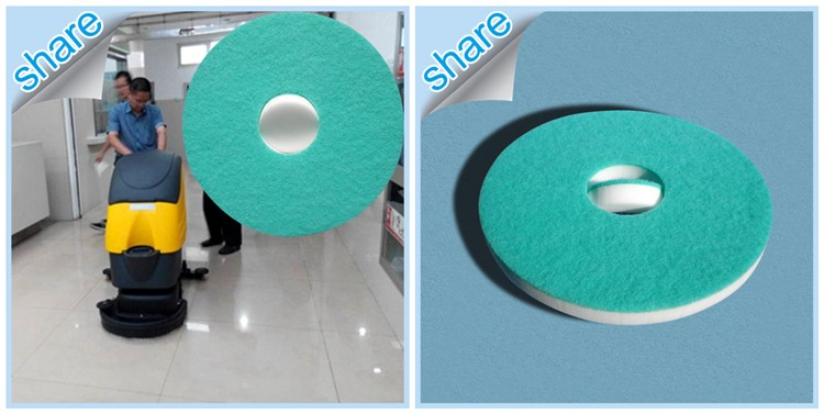 Customized Scouring Cleaning Pads with a central hole for floor care machine
