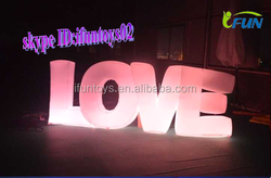 Inflatable Lighted Love Letters/lighting inflatalbe letter/giant inflatable letters