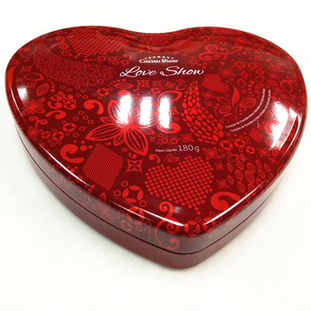 Heart shape custom metal tin box for chocolate