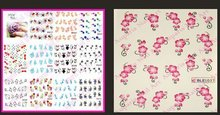 Fashion New Colors Water Transfer Nail Art Decorations Design Nails Stickers Feathers Decals 2015871