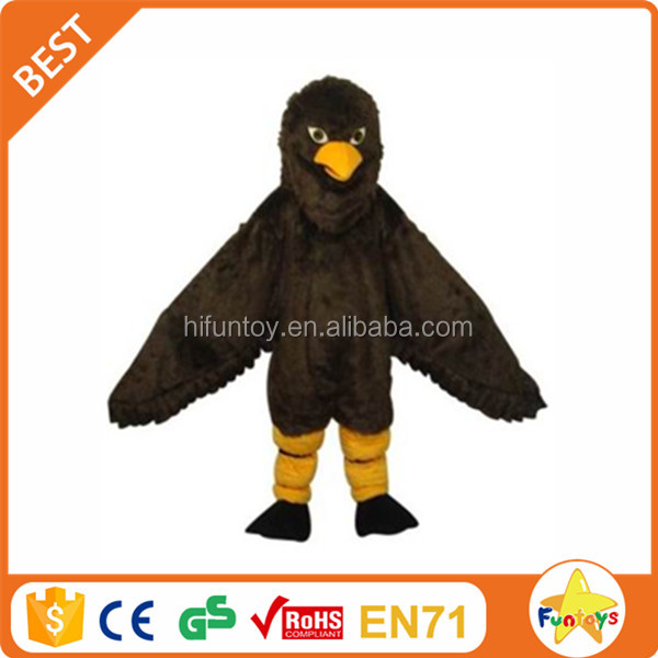 Funtoys CE Black Eagle Hawk Long Plush Mascot Costume