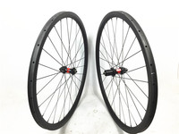 38mm deep 25mm wide carbon cyclocross wheelset, 700C Full carbon tubular wheels with DT240S Disc brake 28H 18 months warranty