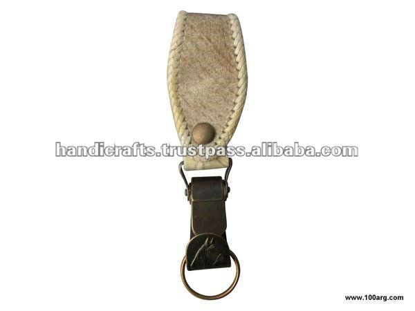 KEY HOLDER WITH BRAIDED PRESILLAS IN LEATHER