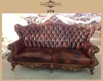 American Style Vintage Style Genuine Leather button tufted sofa, View  button tufted sofa, Danxueya Product Details from Foshan Danxueya Furniture  Co., ...