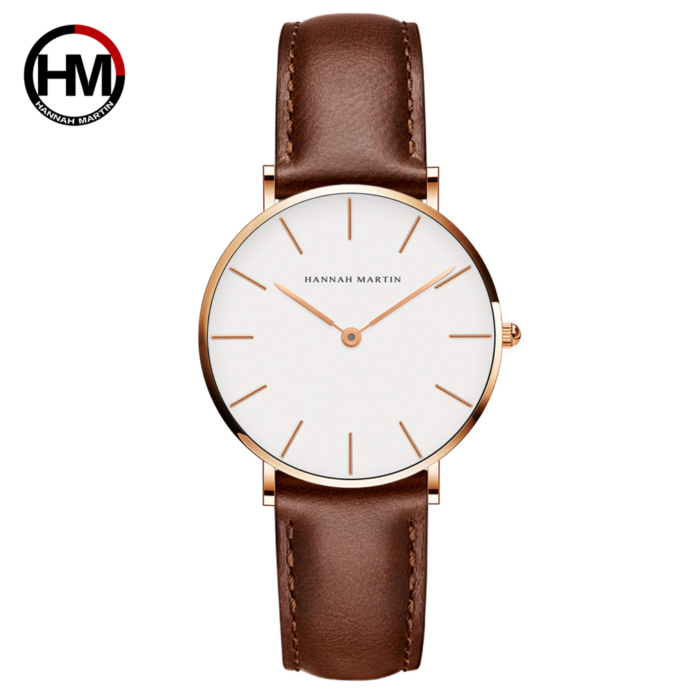 HM-CB36 small size 36mm leather watch lady hand watch