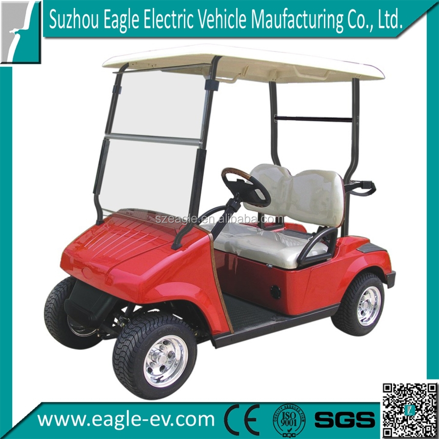CE approved battery powered 2 seater golf cart