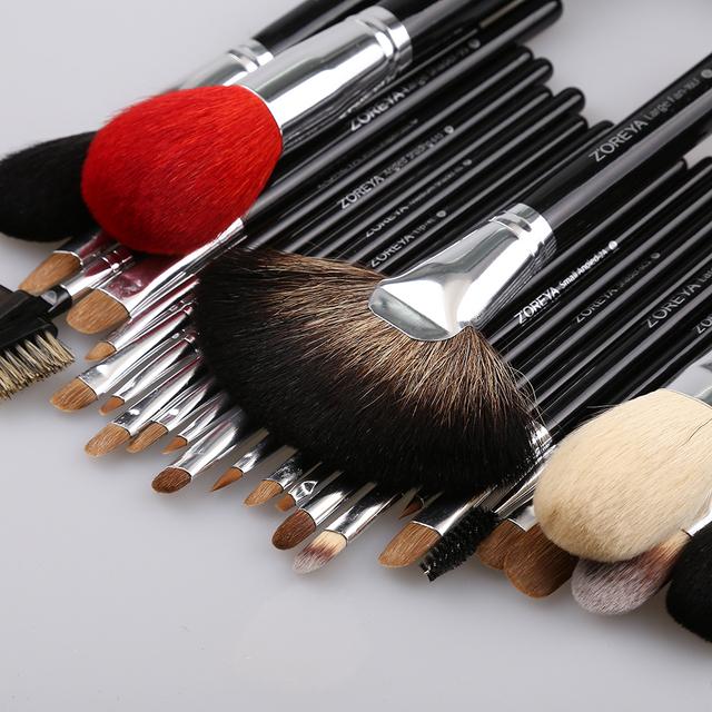 26pcs Zoreya 2018 Premium Beauty Needs Goat Hair Makeup Brush Set Professional