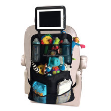 NEW Car Backseat Organizer with Tablet Holder With iPad Holder Fixed to the Headrest Car Back Seat Protector Hanging Storage Bag