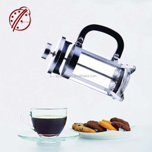 2017 New product heat resistant glass french press coffee maker with plastic lid OEM
