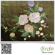 Professional factory Embroidery velvet /sofa fabric velour fabric for living room