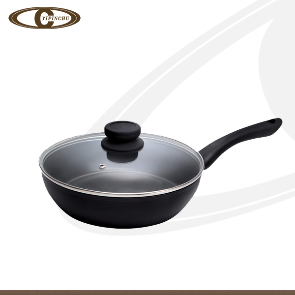 Black diamond forged frypan with copy die cast frying pan
