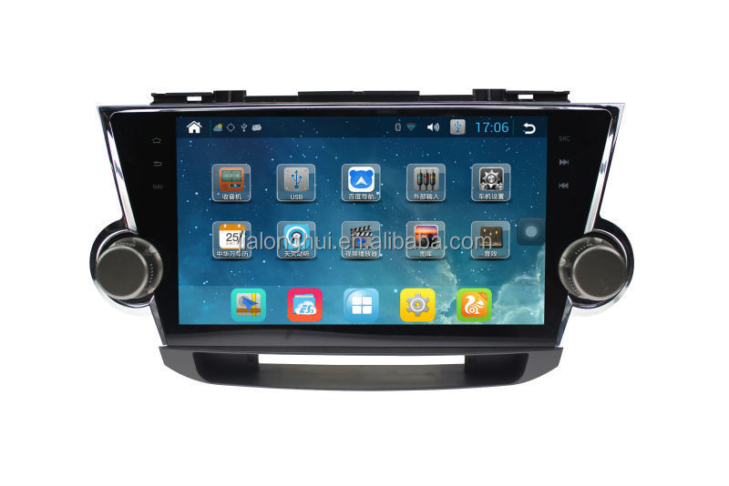 "RK3188 1.6GHz Quad-Core 10.1"" 1024x600 Pure Android 4.2.2 Radio GPS For TOYOTA HIGHLANDER Android Radio Stereo 3G WIFI"