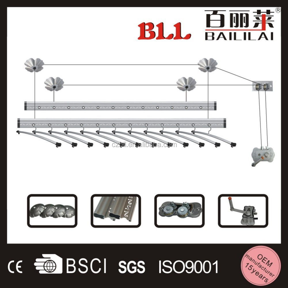 Bll Brand Clothes Hanger Ceiling Mounted Type Lifting