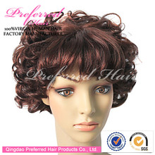 Fashionable African American short curly bob wigs
