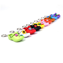 2D 3D soft pvc rubber slipper flip flop shoe Keychain, hole sandalias beach running dance ballet shoe key buckles chain keyring